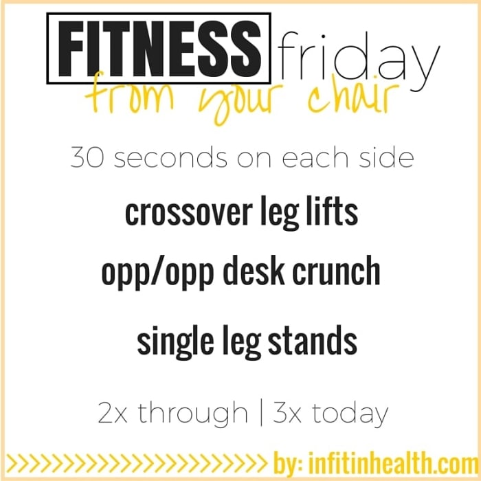 Fitness Friday 1/15: Exercise from Your Desk Chair