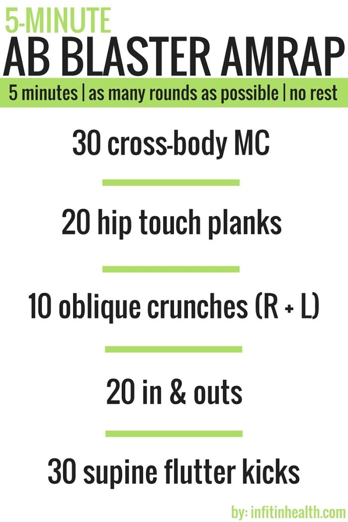 5-Minute Ab Blaster AMRAP Workout