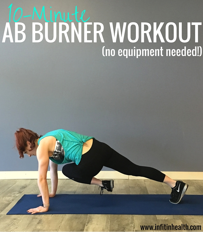 10-Minute Ab Burner Workout (no equipment needed!)