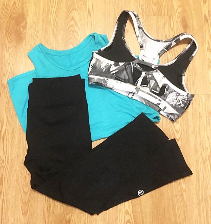 MPG Sport bra & leggings; Alo Yoga tank