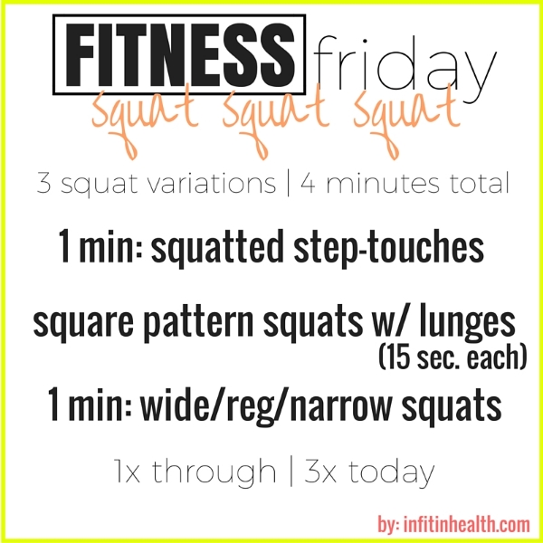 Fitness Friday 3/4: 3 Squat Variations to Try At Work