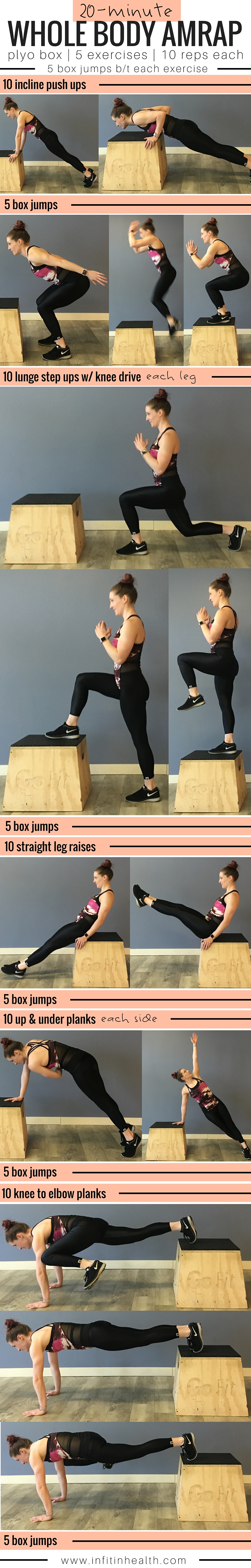 20-Minute Whole Body AMRAP (on a Plyo Box)