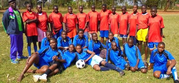 Young women's soccer team