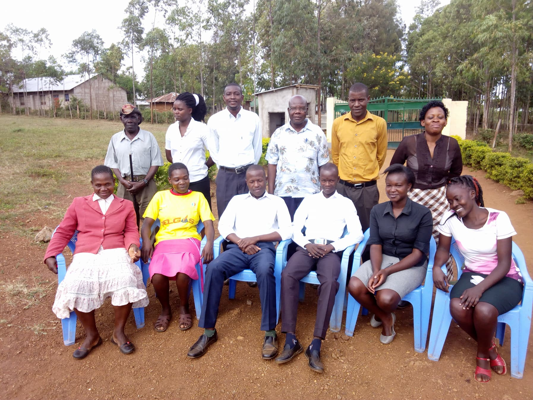 Some of our teachers and faculty (including security) at Christ Care Academy in Migori, Kenya.