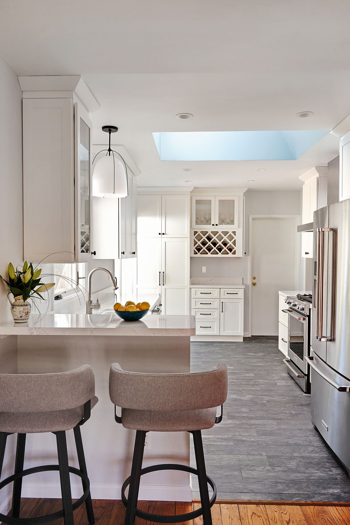 dreamy blue white kitchen-24