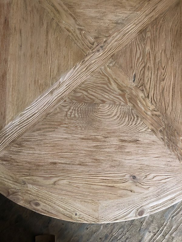 Custom Reclaimed Coffee Table closeup