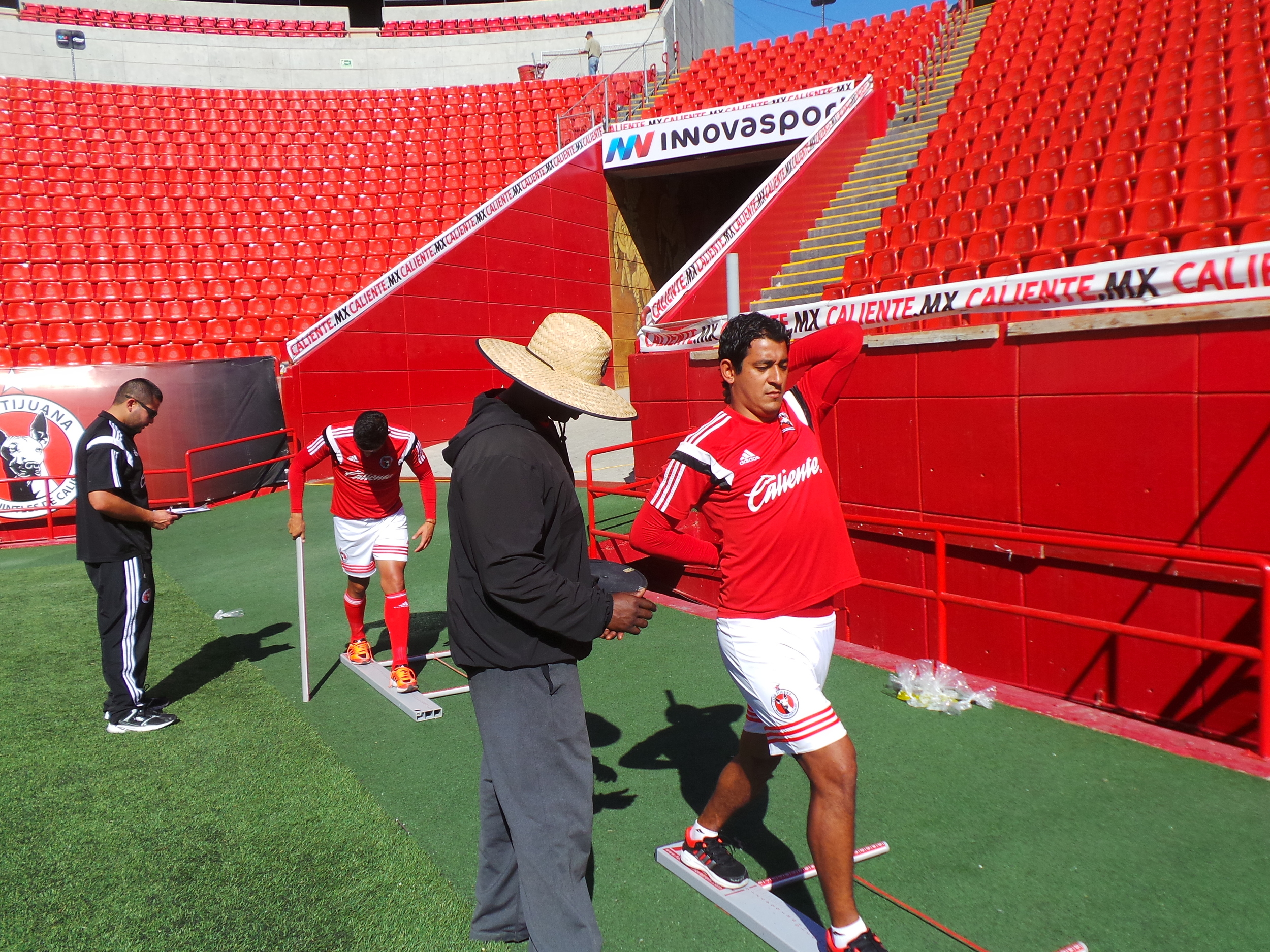 Coach Milo assessing the Xolos.