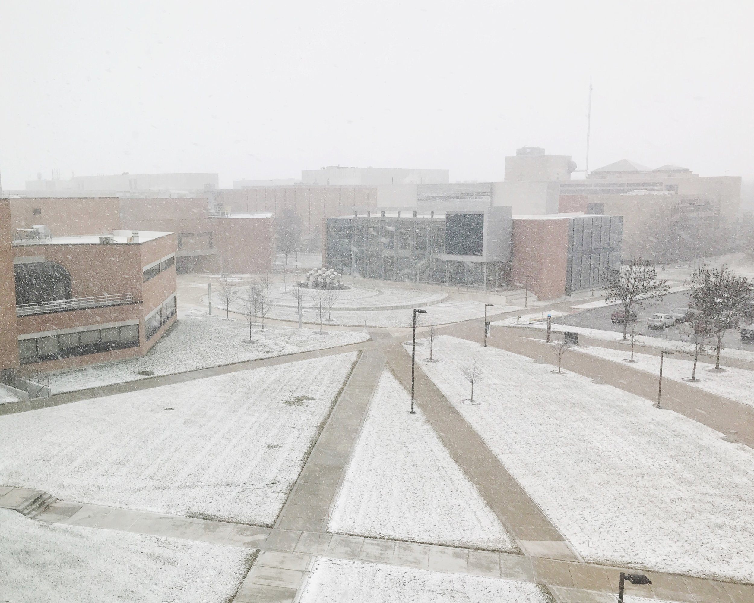 Wright State University in the Snow | TetherAndFly.com