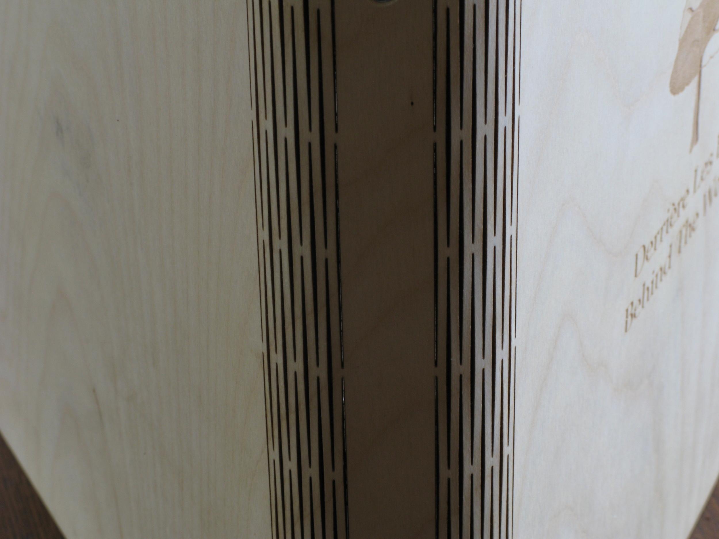 Wooden Live Hinge Binder