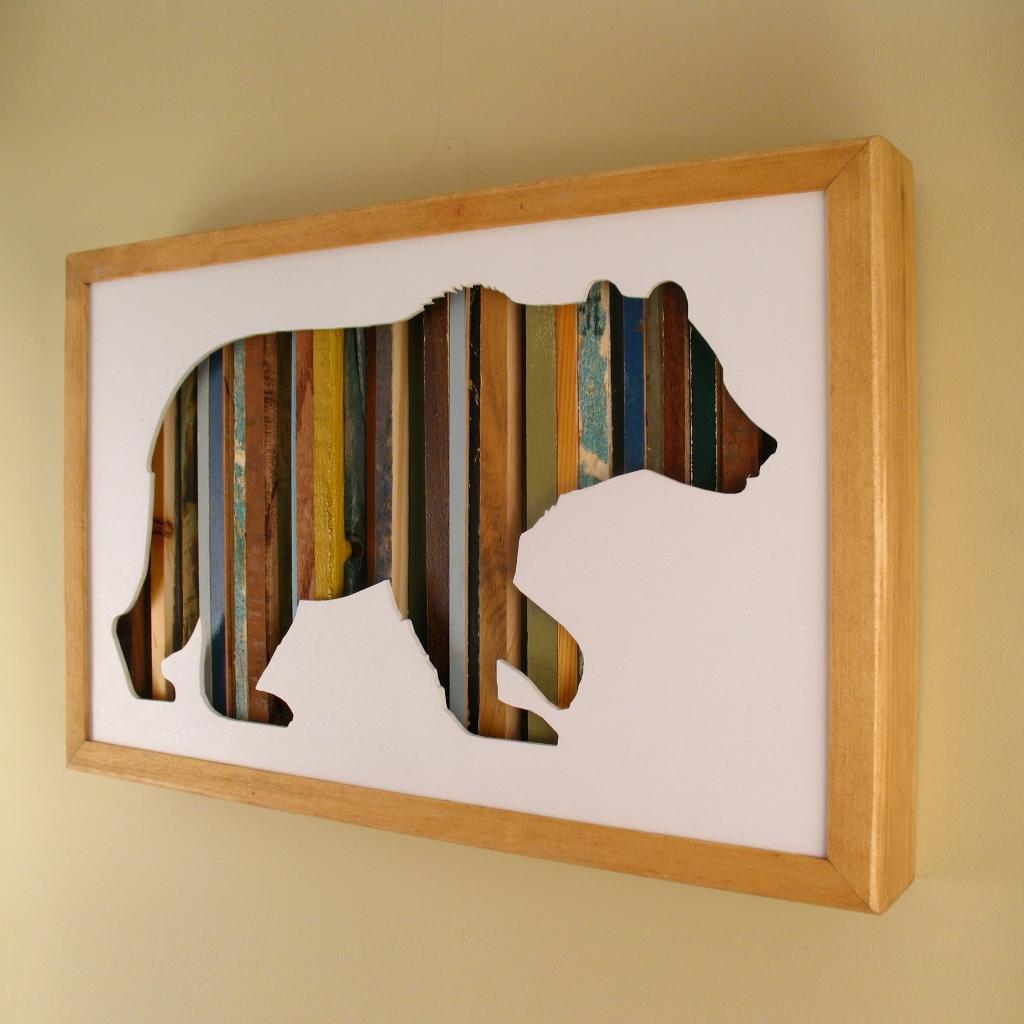 "Bear - 17"" x 11"" x 2"" - $175.00"