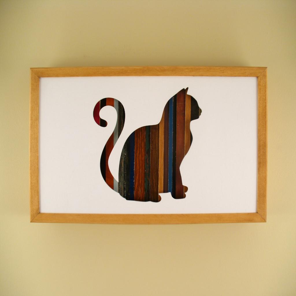 """Cat Sitting - 17"""" x 11"""" x 2"""" - $175.00"""