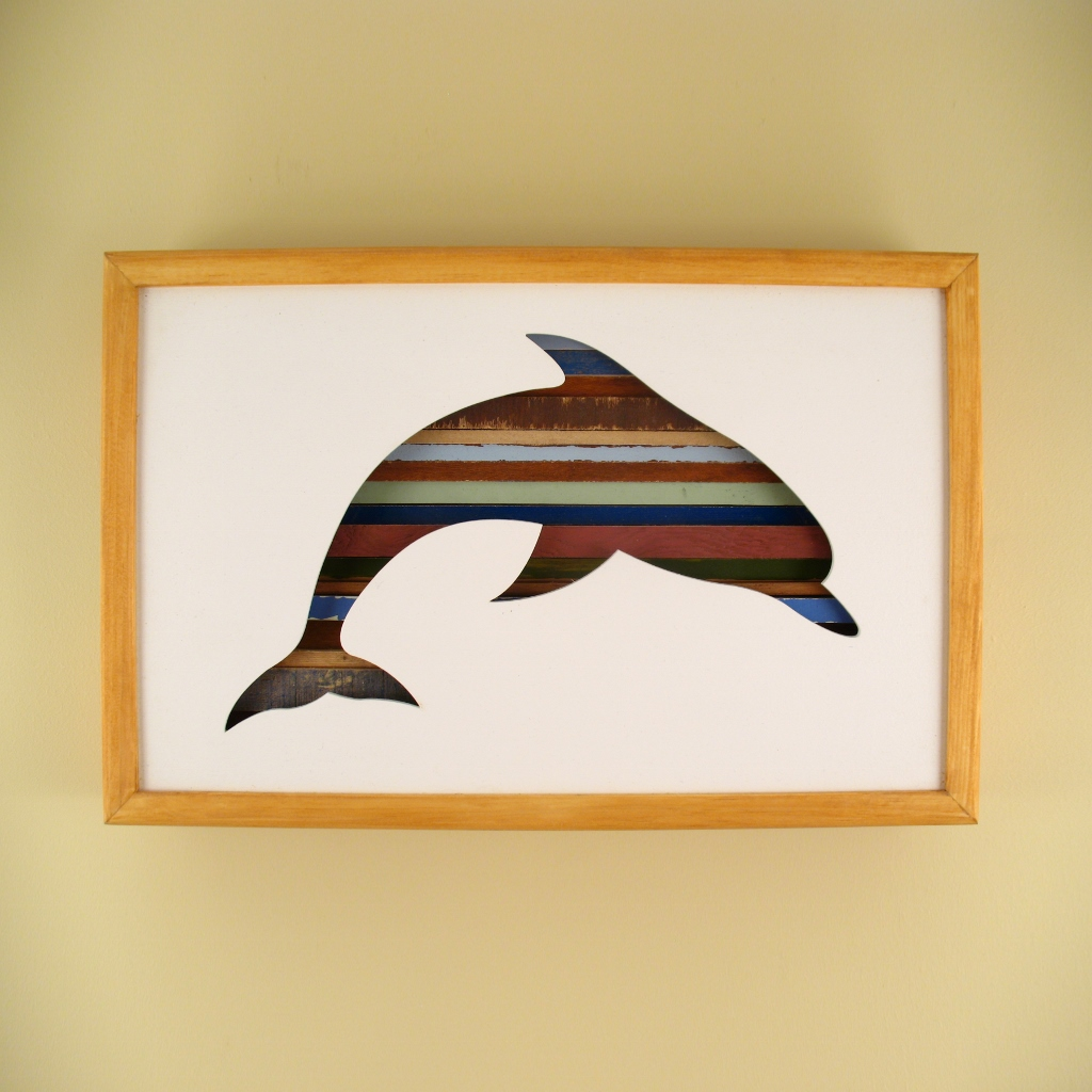 """Dolphin - 17"""" x 11"""" x 2"""" - $175.00"""