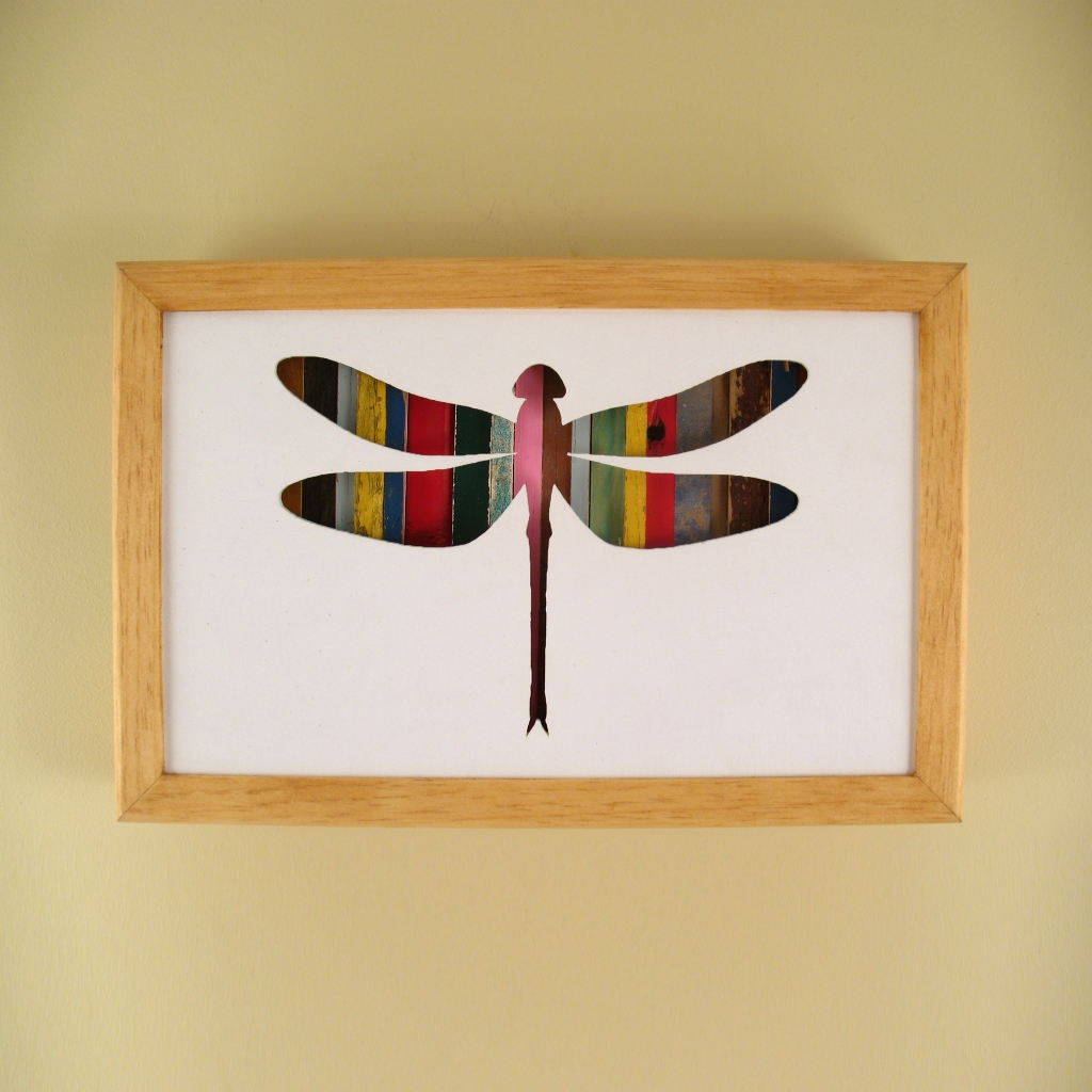 "Dragonfly - 12"" x 8"" x 2"" - $115.00"