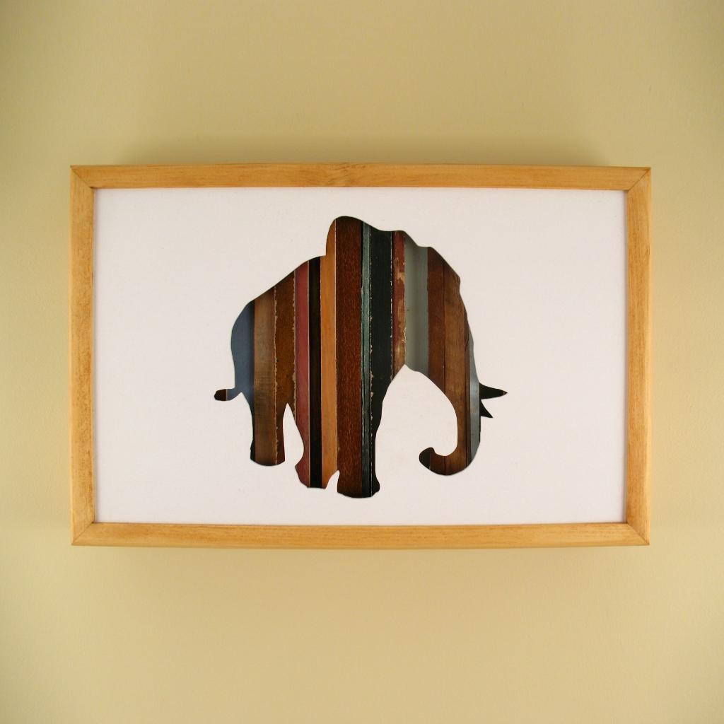 """Elephant - 17"""" x 11"""" x 2"""" - $175.00"""