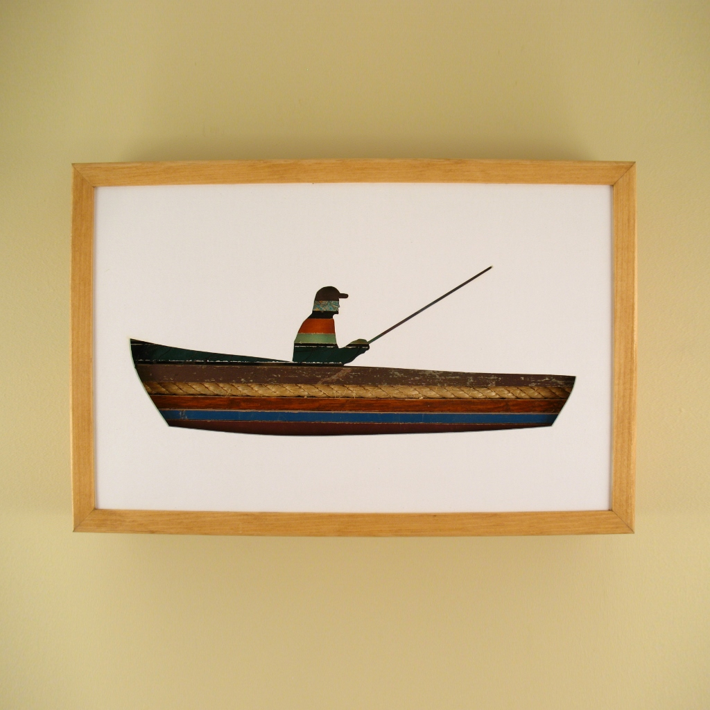 "Fisherman - 17"" x 11"" x 2"" - $175.00"