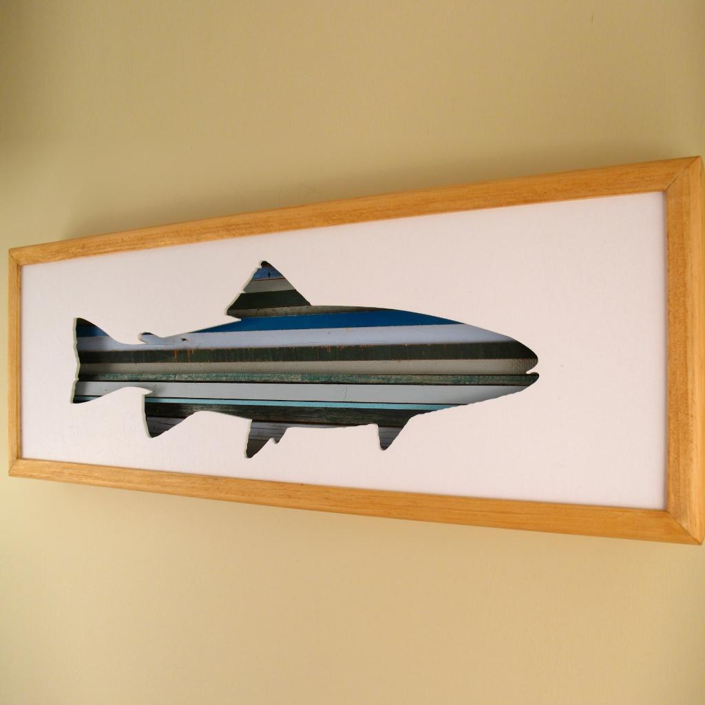"""Fish - 24"""" x 8"""" x 2"""" - $175.00"""