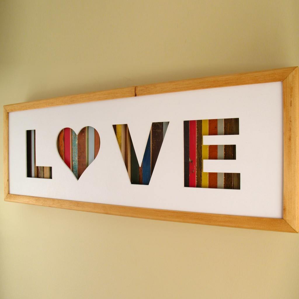 "Love - 24"" x 8"" x 2"" - $175.00"