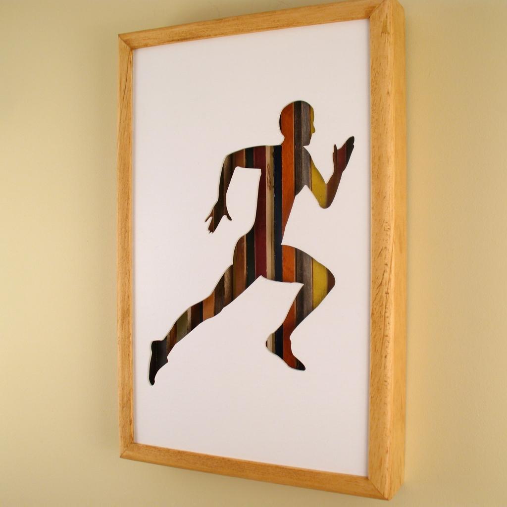 "Male Runner - 17"" x 11"" x 2"" - $175.00"