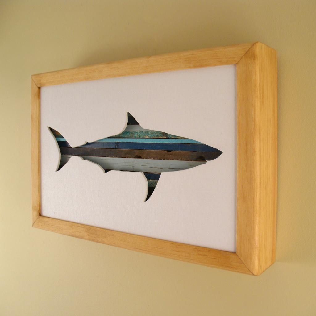 "Shark - 12"" x 8"" x 2"" - $115.00"
