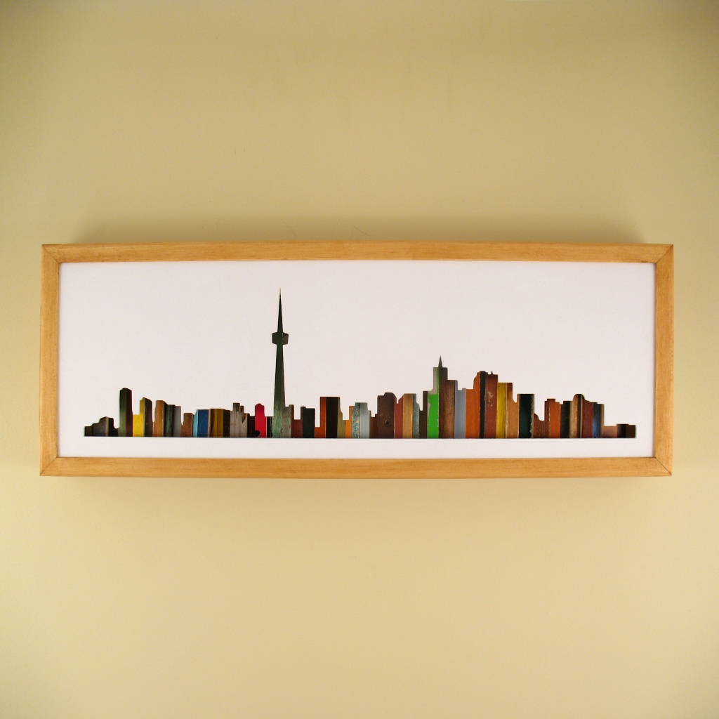 "Toronto - 24"" x 8"" x 2"" - $175.00"