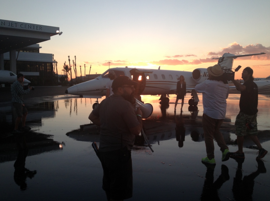 Opa Locka Executive Airport, with a Learjet and a Boeing 707. (SONY commercial campaign shoot).