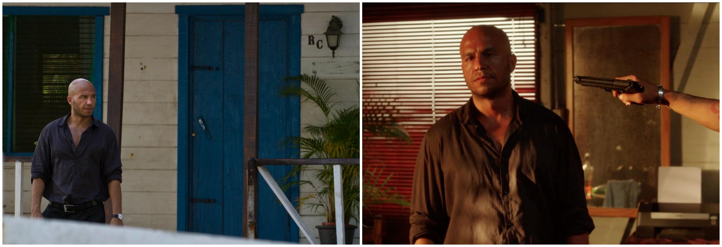 "Danish actor Dar Salim, as Abbas,is ambushed by hit men in ""Wendt's House""."