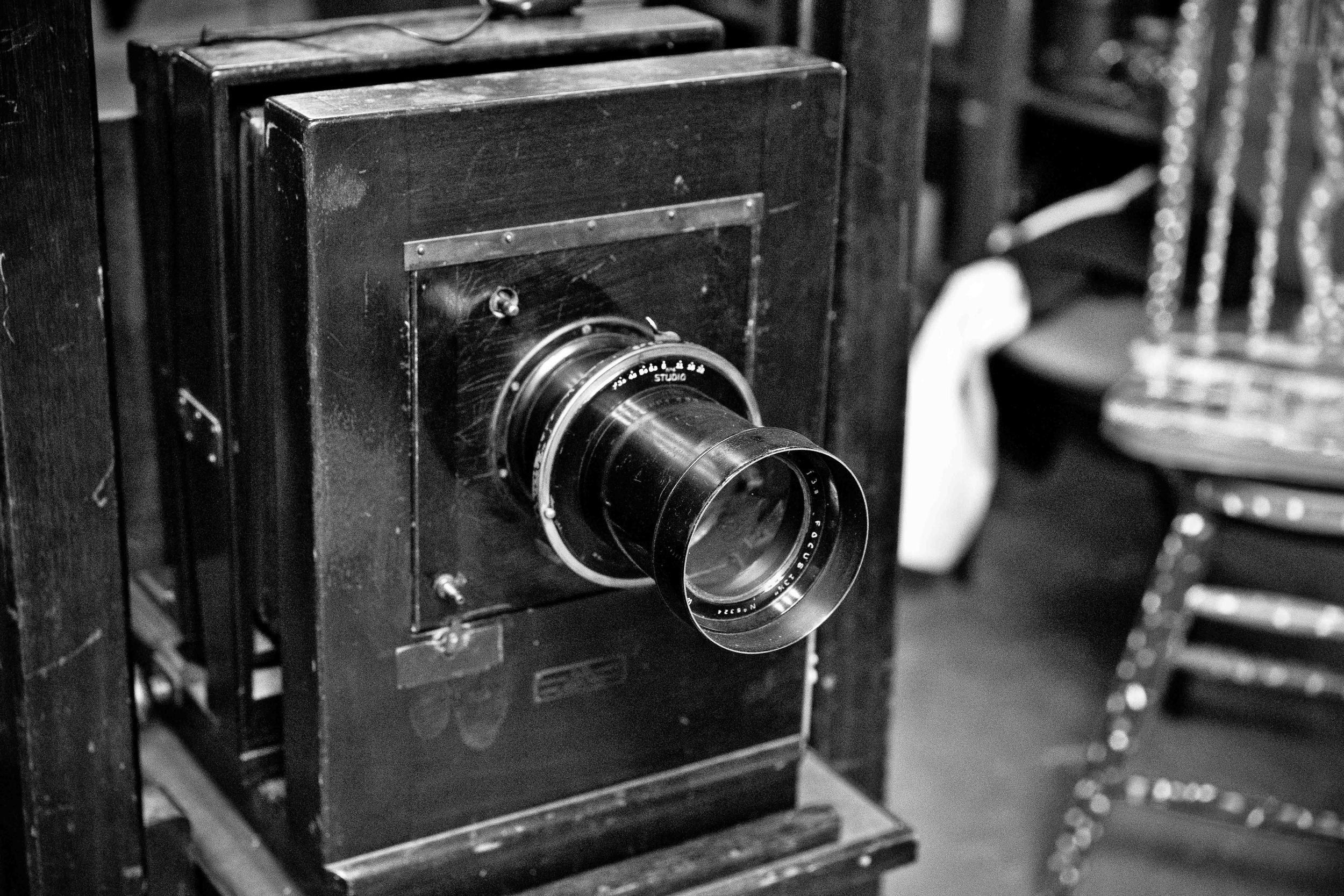 The View Camera used for the portraits circa early 1900s