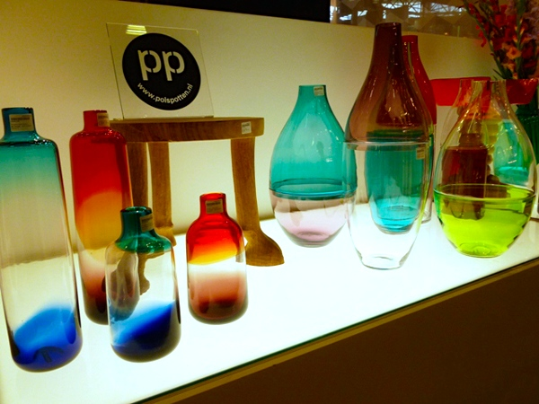 New blown glass andcolourfulvessels by Pols Potten    Available in various shapes and colour combinations