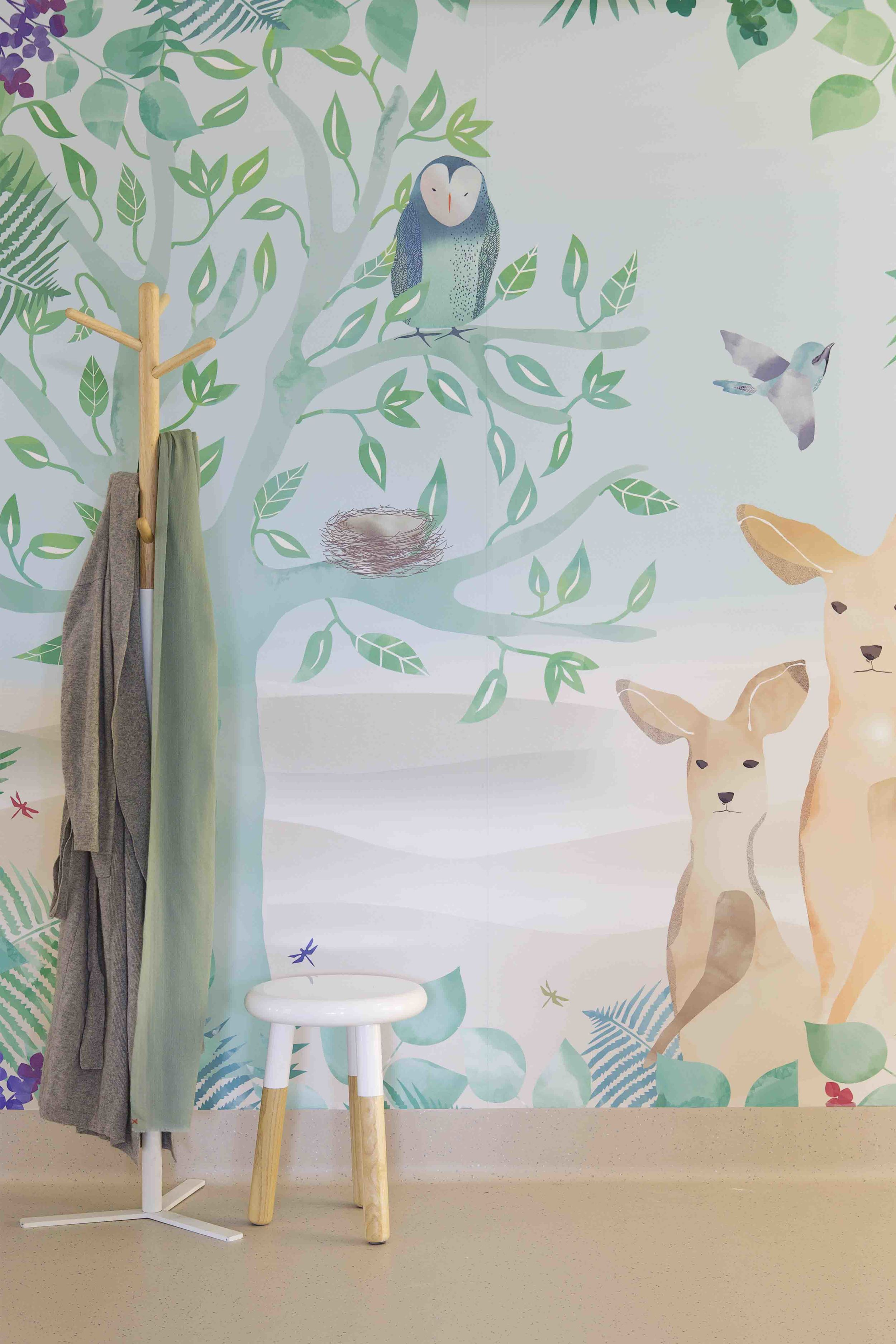 Catherine's illustrations in the Special Care Nursery at Sydney's Mater Hospital.