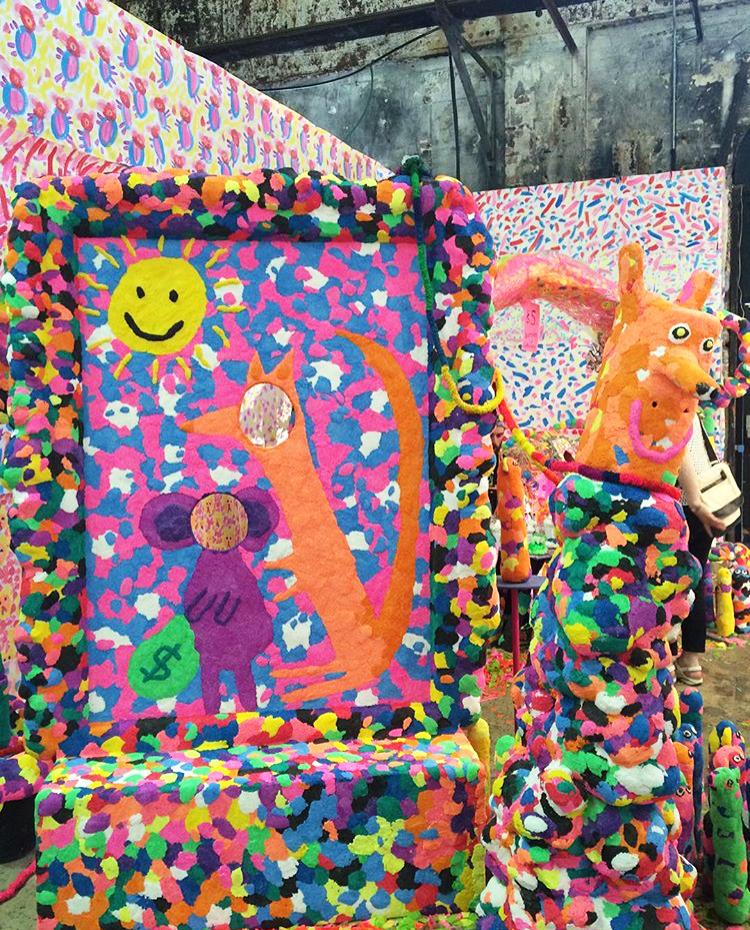 Rosie Deacon's 'Kanga Kave' installation