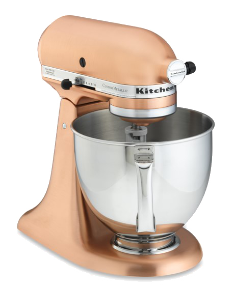 This Kitchenaid was made for us! The iconic mixer has been released in three shades of metallic this season via  Williams Sonoma