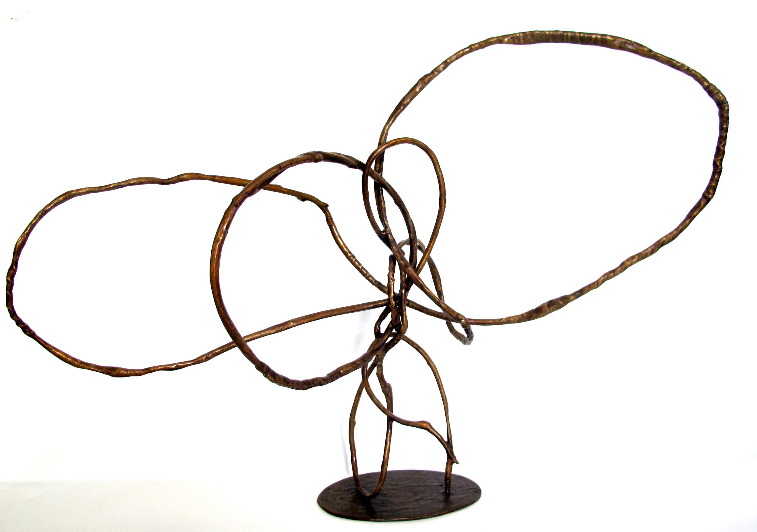 Continuous Drawing  Bronze 99 x 70 x 28cm