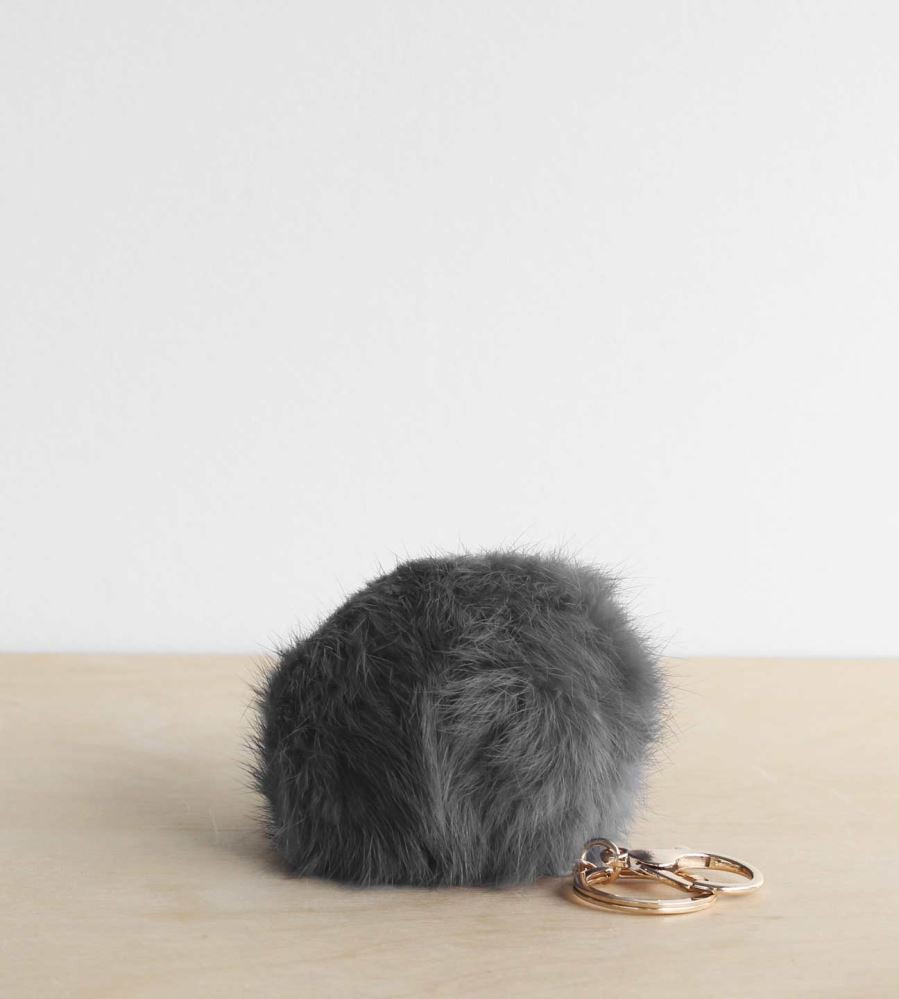The 'Sophie Hunny Bunny' rabbit fur keychain is the softest accessory to own. Recommended to be stroked in a stressful situation or at the end of a busy day.