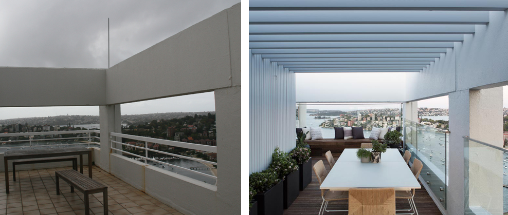 EASTBOURNE ROAD  has been through the most incredible transformation, from a drab 1970s apartment to a luxurious 3-level penthouse, the icing on the cake being this magnificent rooftop terrace with full internal kitchen, sky garden and day bed.