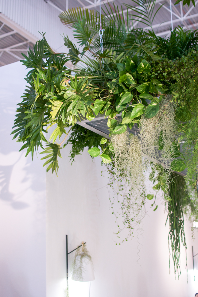 'Greenery' is the PANTONE #ColoroftheYear2017 and Cinna France got this one right with their stunning hanging garden.