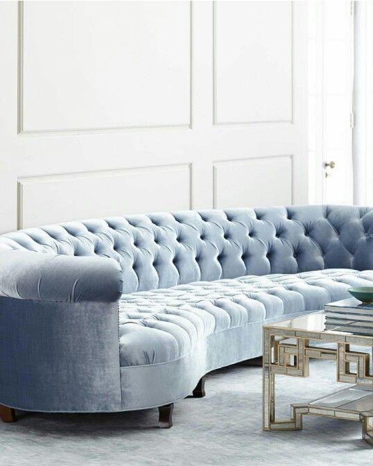 Haute House: Rebecca Mirrored Sofa via Neiman Marcus