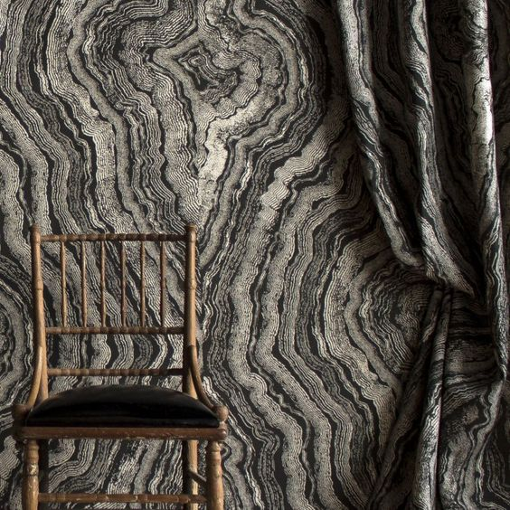 Cocoon your walls in the stunning patterned wallpaper created by  Apparatus Studio  for Zak + Fox