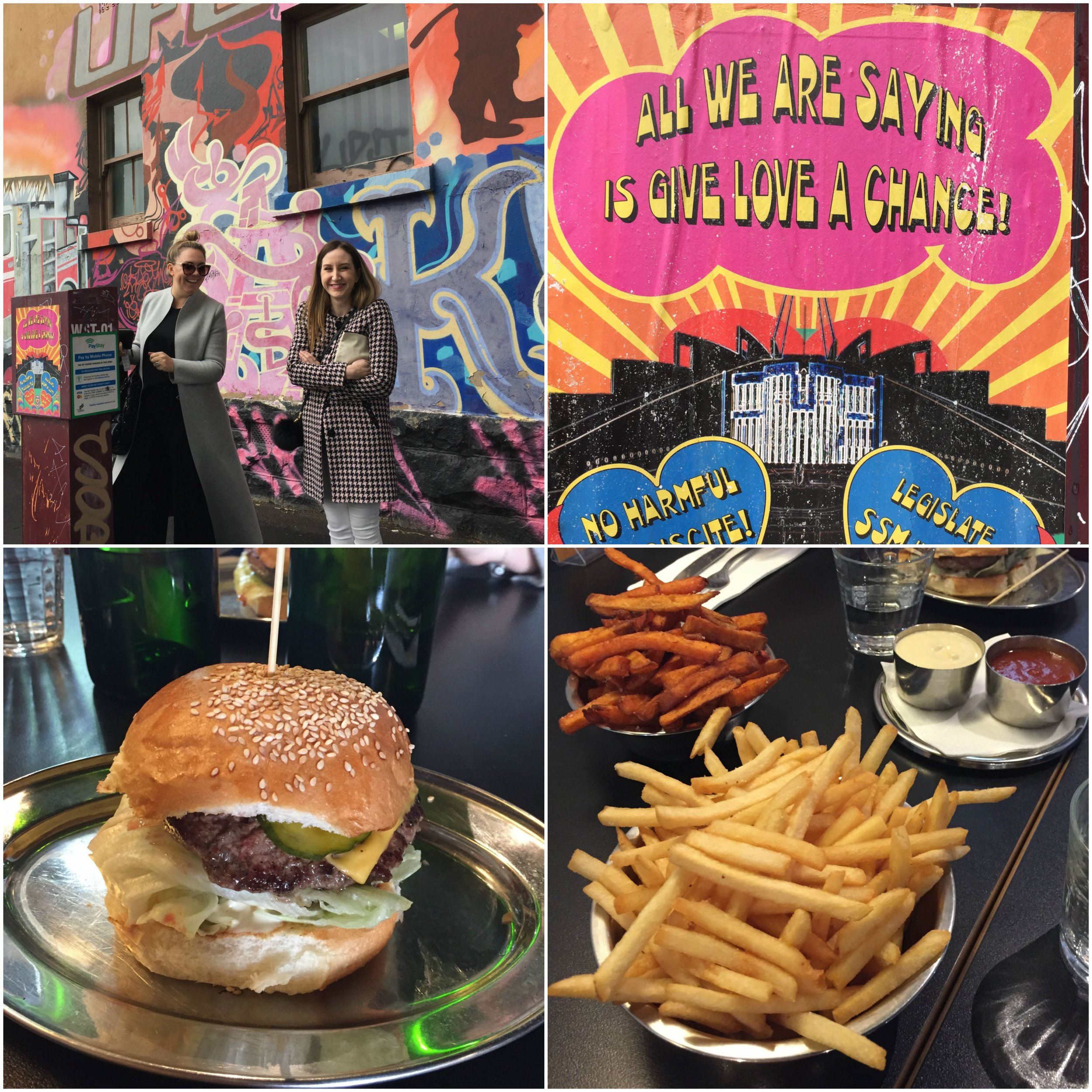 We said good bye to colourful Melbourne . . . But before we hit the road for the Yarra Valley we made a quick stop in Fitzroy to enjoy a very satisfying burger at 'Brother Burger'.