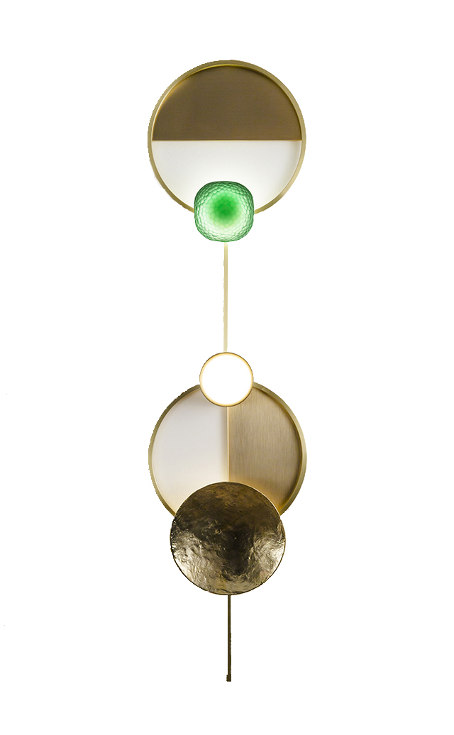 Alex is dreaming of the 'Gioielli' wall light by  Giopato & Coomes with it's jewel-like qualities and a pop of green.