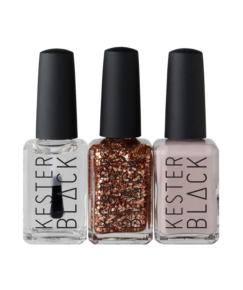 Add a bit of Christmas sparkle to your  Kester Black  nail polish this festive season - the rose gold glitter being an AKD favourite of course!
