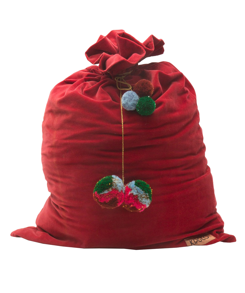Maddie has her eye on this red velvet  Santa Sac from Kip&Co  for all her Christmas loot!