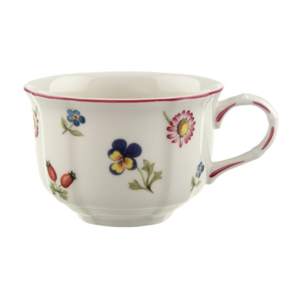 Whenever Maddie thinks of her mother, she imagines her sipping tea from a Villeroy and Boch 'Petite Fleur' tea cup. Although most of the crockery in Maddie's family home has changed over the years,leaving behind an odd assortment of ceramics, the Petite Fleur collection always remains a staple as Maddie's mum refuses to drink tea out of anything else!