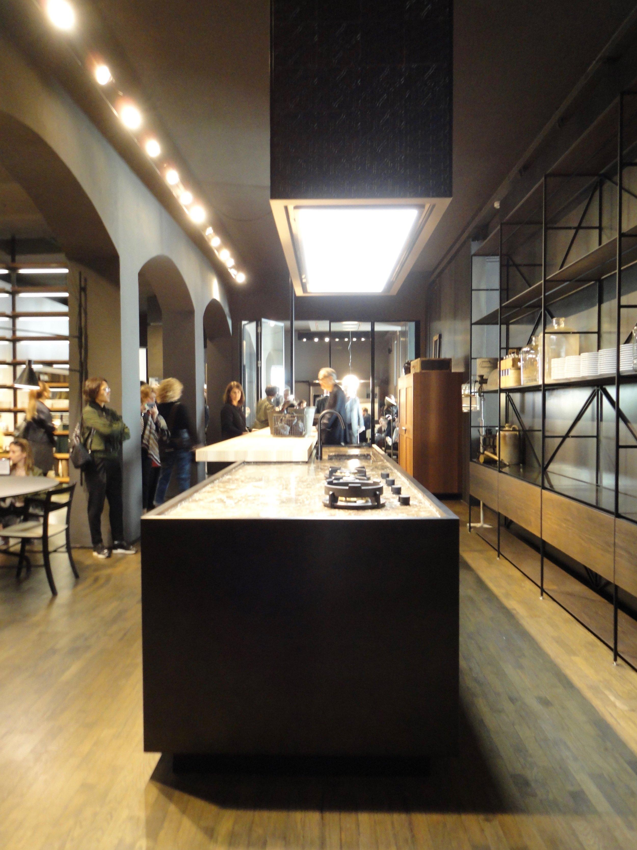 A furniture-like kitchen design at Boffi
