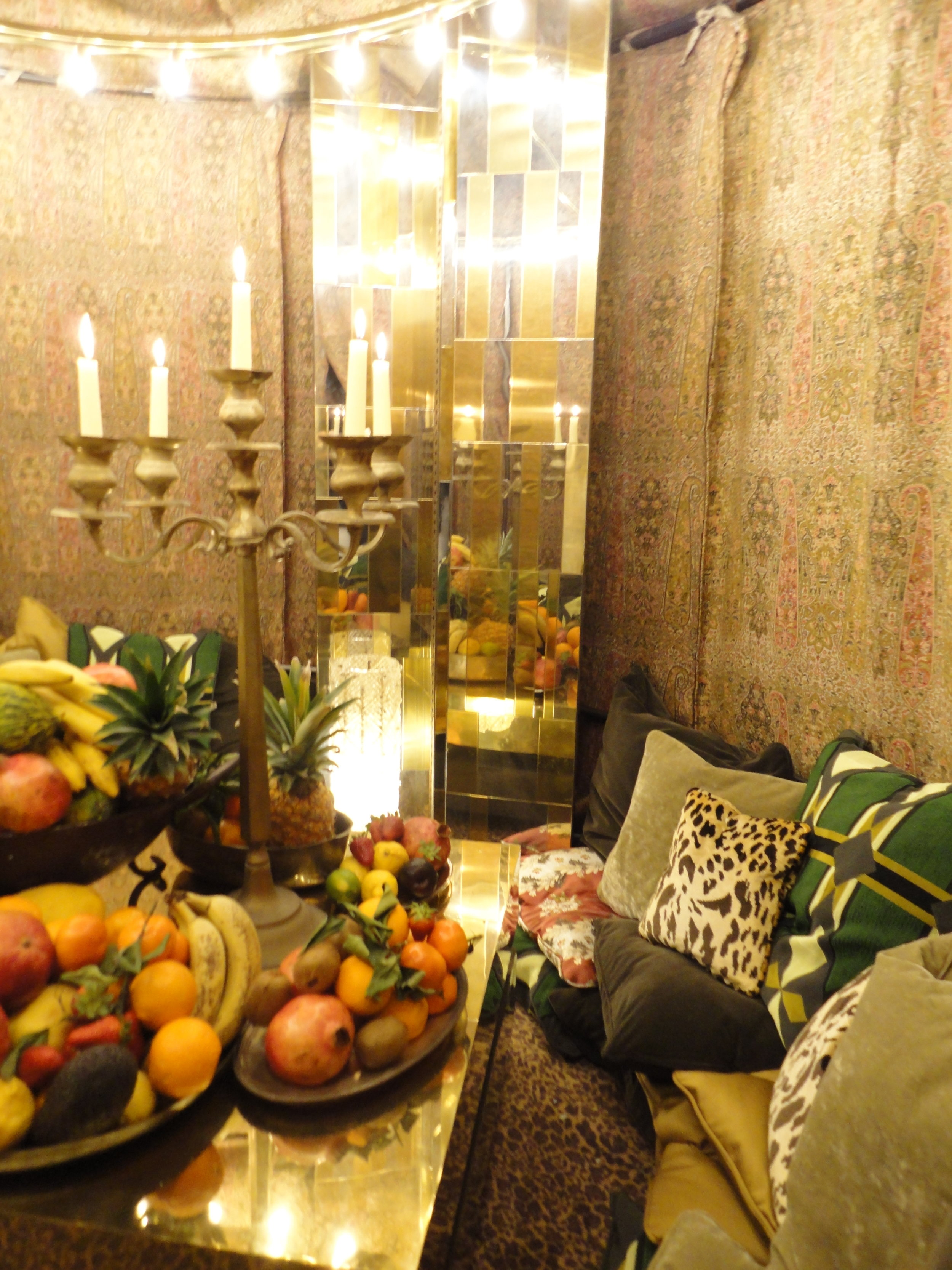 One of the tents decorated decadently in a Moroccan style feast for the eyes