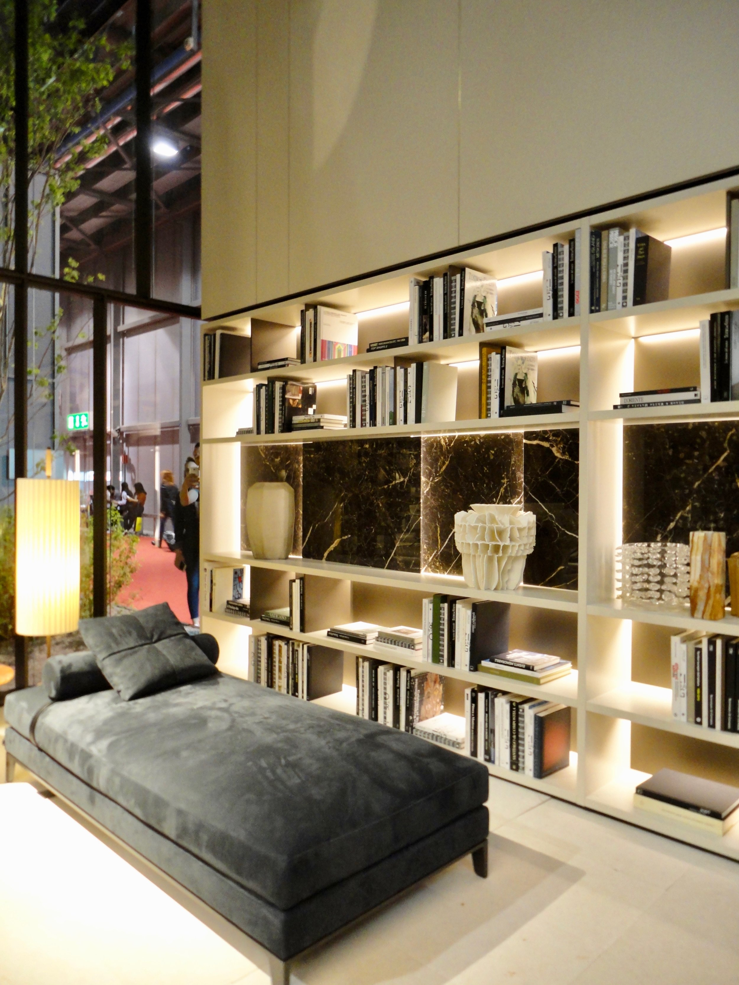 New 'Emperador' marble to Poliform's existing 'Wall' storage system