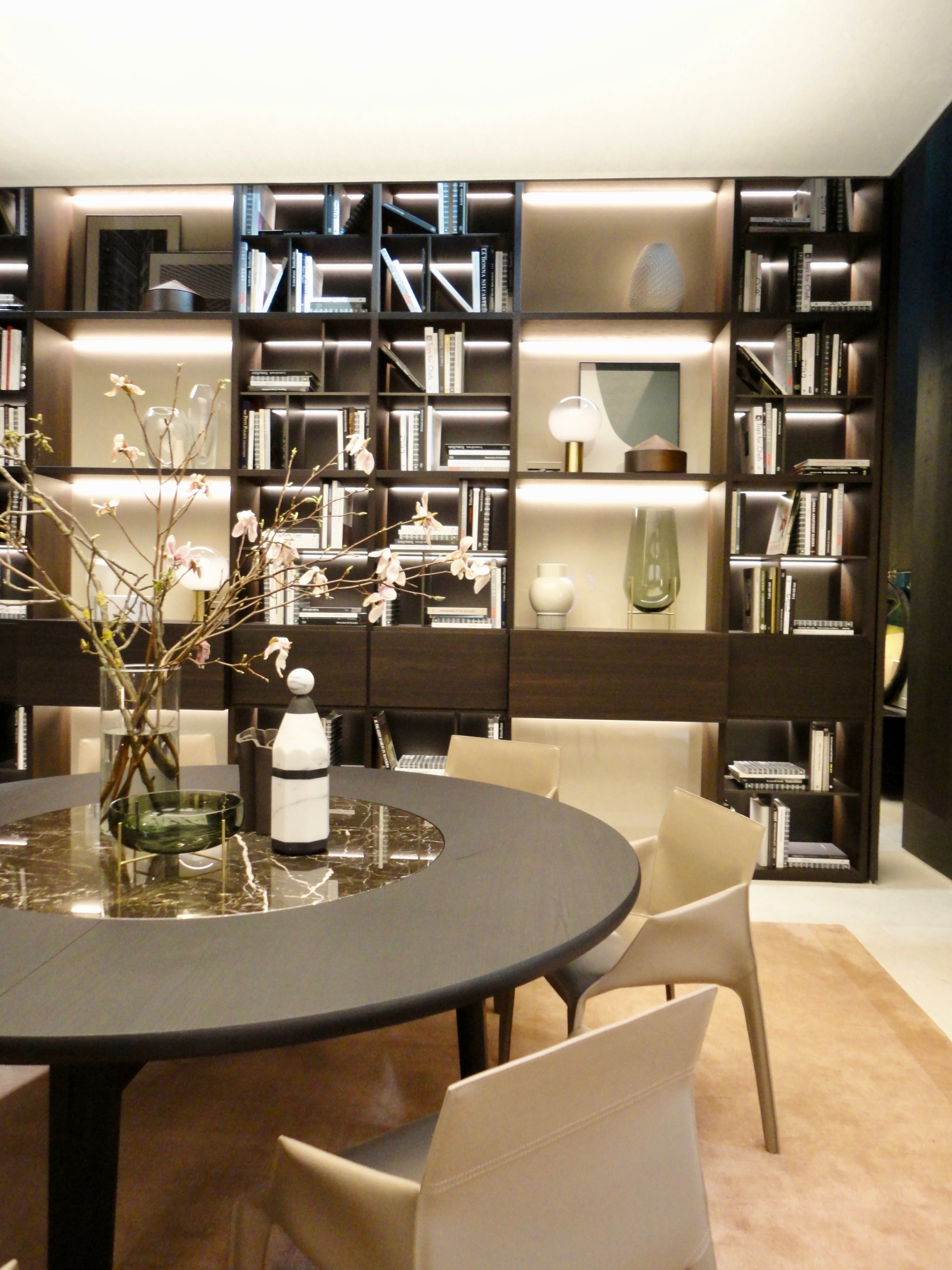 New 'Home Hotel' table on display with inset stone lazy susan