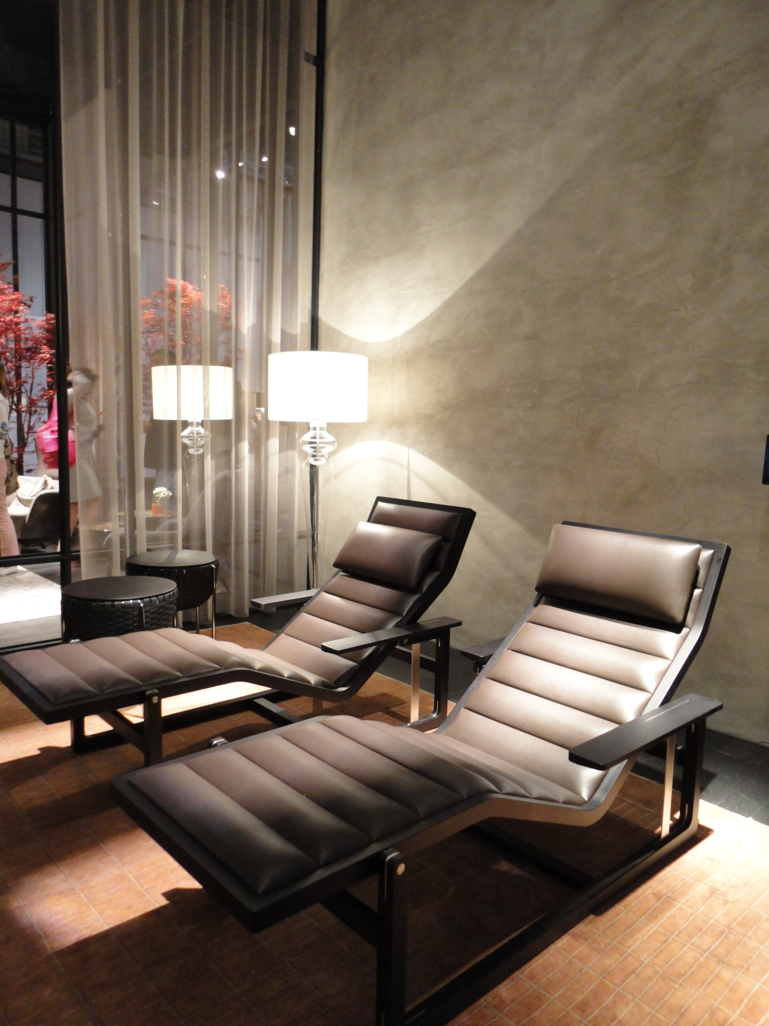The new 'Byron' chaise in a divine chocolate toned leather