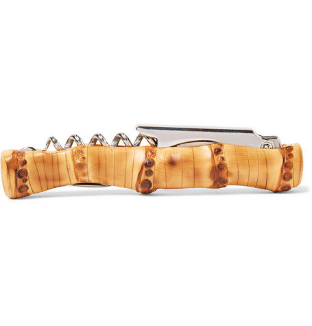For the wine connoisseur fathers,  Lorenzi Milano's  corkscrew takes functional to fashionable, with a very trend-conscious bamboo design.