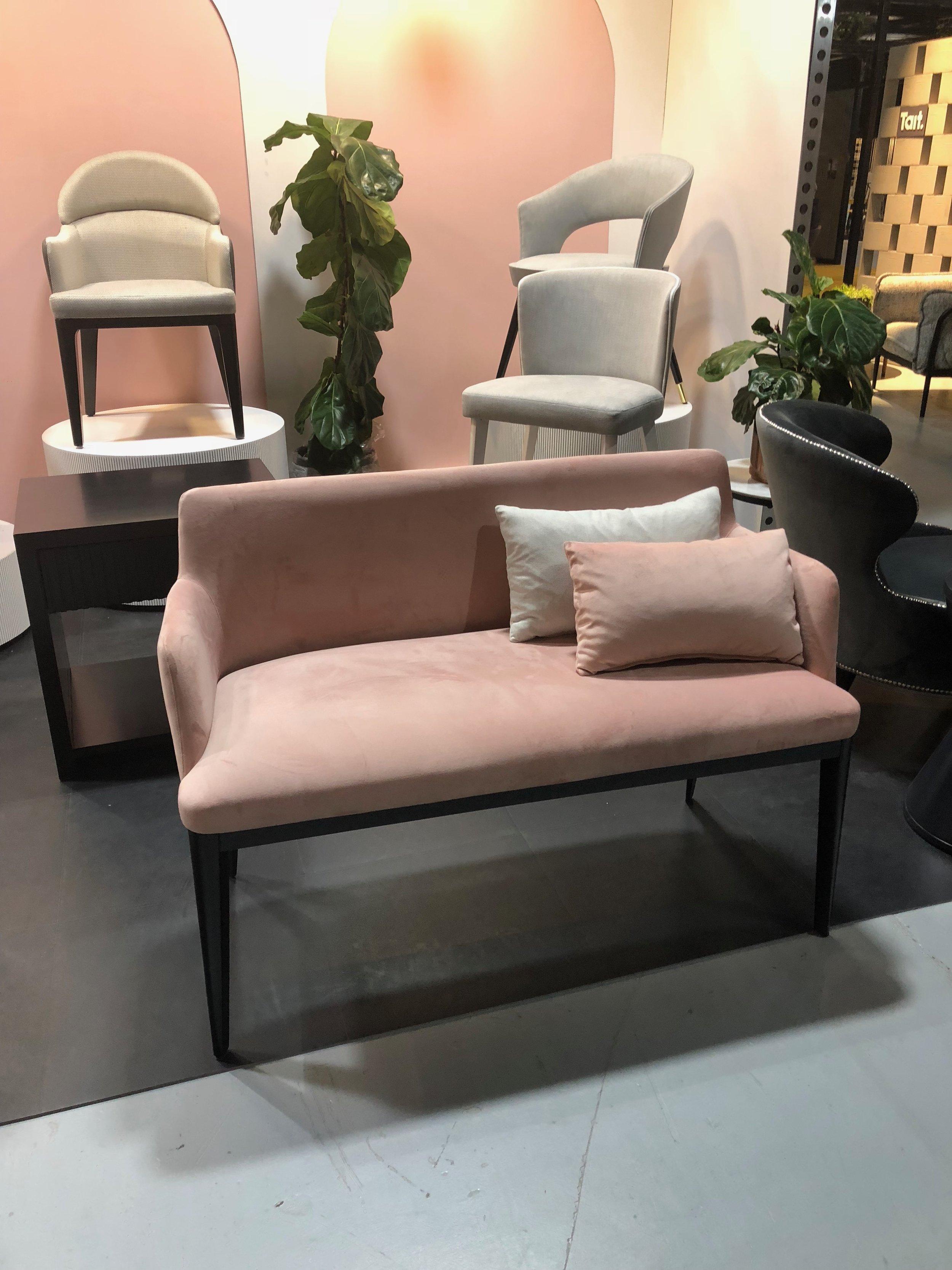 Casa Mia display showcasing their new Aver lounge #LOVE