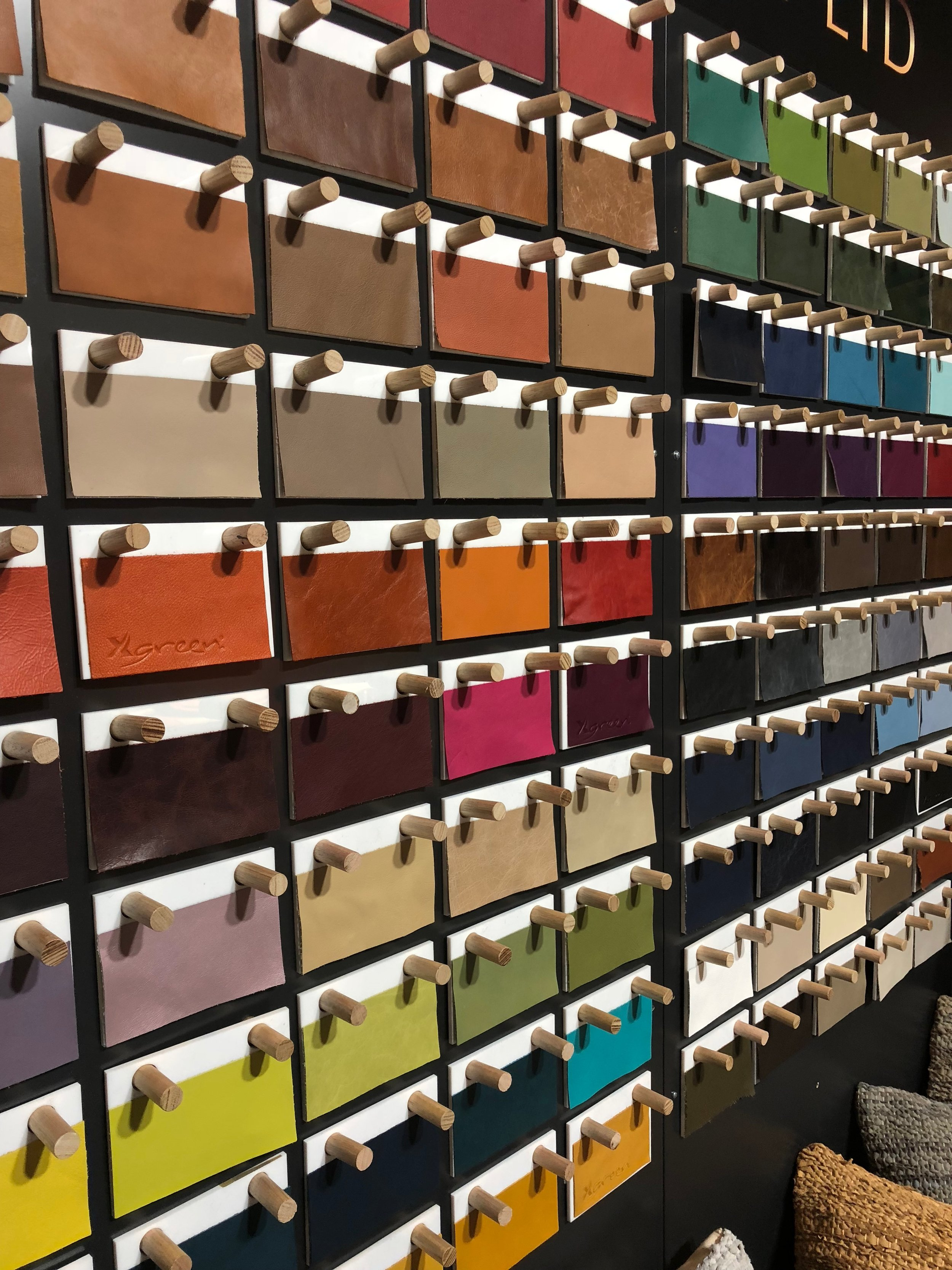 The beautiful leathers from NSW Leather Co – we just adore their metallic finishes!